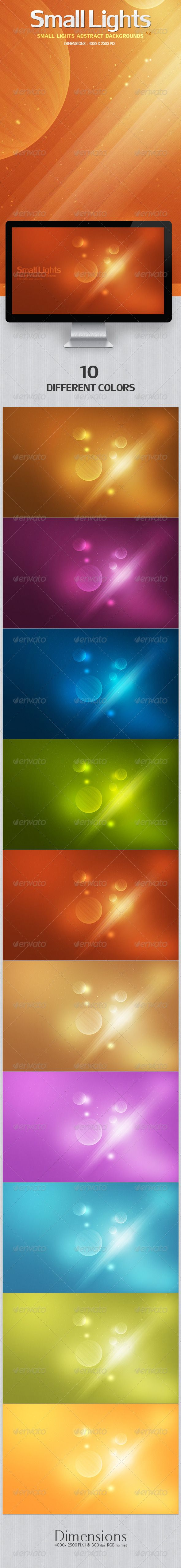 """Small Lights Abstract Backgrounds 