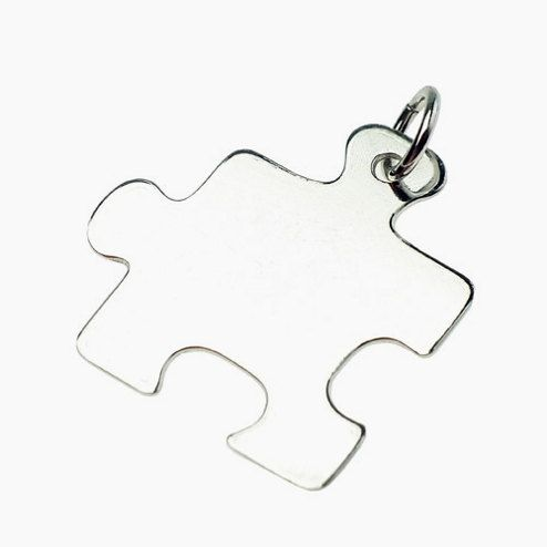 Puzzle pendant  sterling silver by Moonstoneamber on Etsy, $9.99