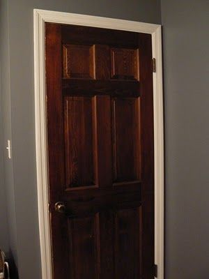 wood interior doors with white trim - Google Search