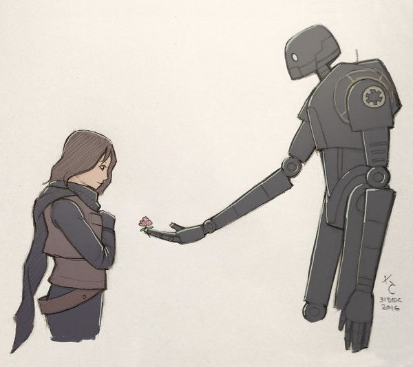 Rogue One x Laputa by KLCheav | All I could think about every time I saw K2 the first time I watched Rogue One was how he looked like the robot from Castle In The Sky!!!