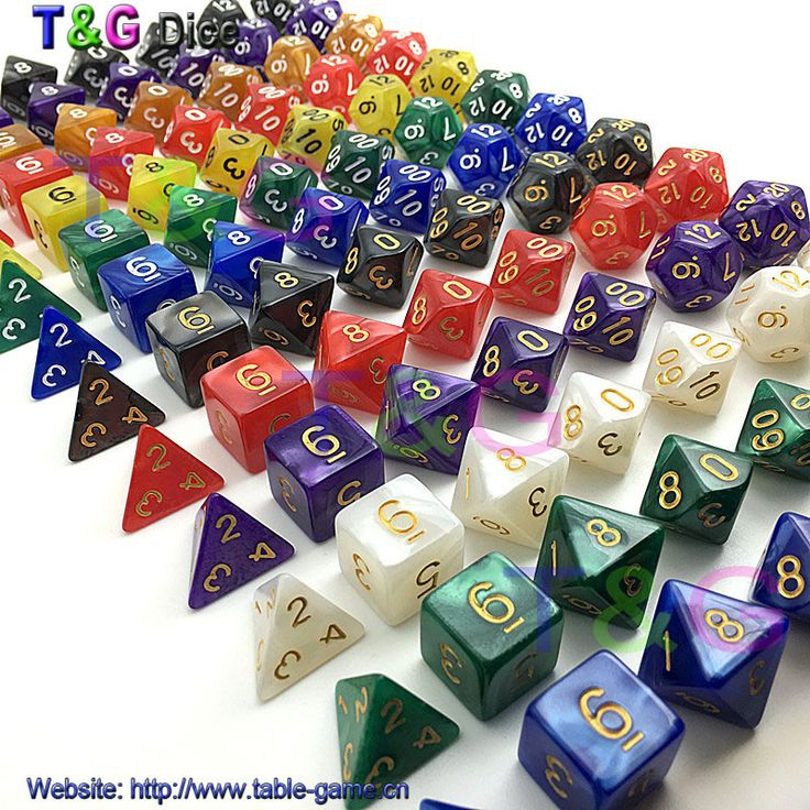 New 7pc/lot dice set High quality Multi-Sided Dice with marble effect d4 d6 d8 d10 d10 d12 d20 DUNGEON and DRAGONS rpg dice game