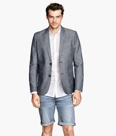 H&M Gray Linen Blazer