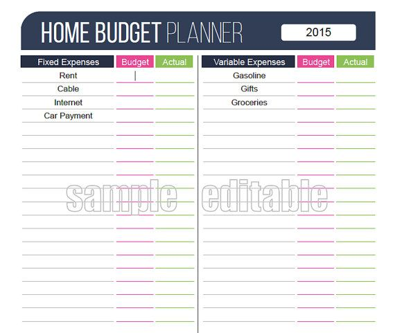 The 25+ best Budget planner worksheet ideas on Pinterest Budget - sample small business budget