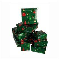 Hediyelerinizi 8li hediye kutusu seti Green Gift Boxes with Christmas Decor içinde dağıtın, kendinizi Noel Baba/Anne gibi hissedin. Yılbaşın...
