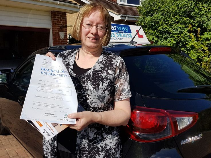 Maxine from Datchet passed her driving test first time at Ashford Driving Test Centre in Surrey in May 2017 after taking a course of driving lessons with Clearway Driver Training driving instructor Peter Fearon.