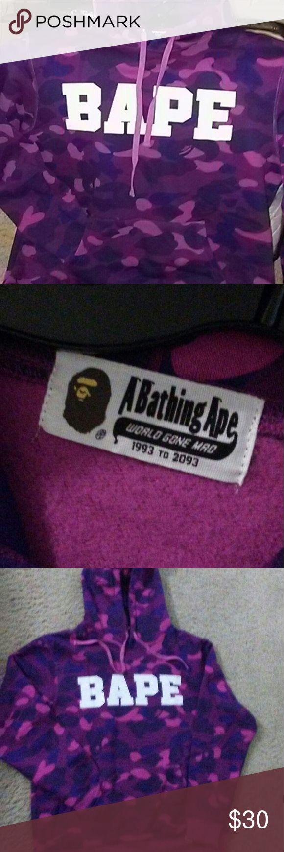 Bape purple camo hoodie Bathing ape purple bape hooded sweatshirt new w/o tags Bathing Ape Sweaters