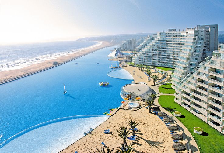 insane resort pool in chile
