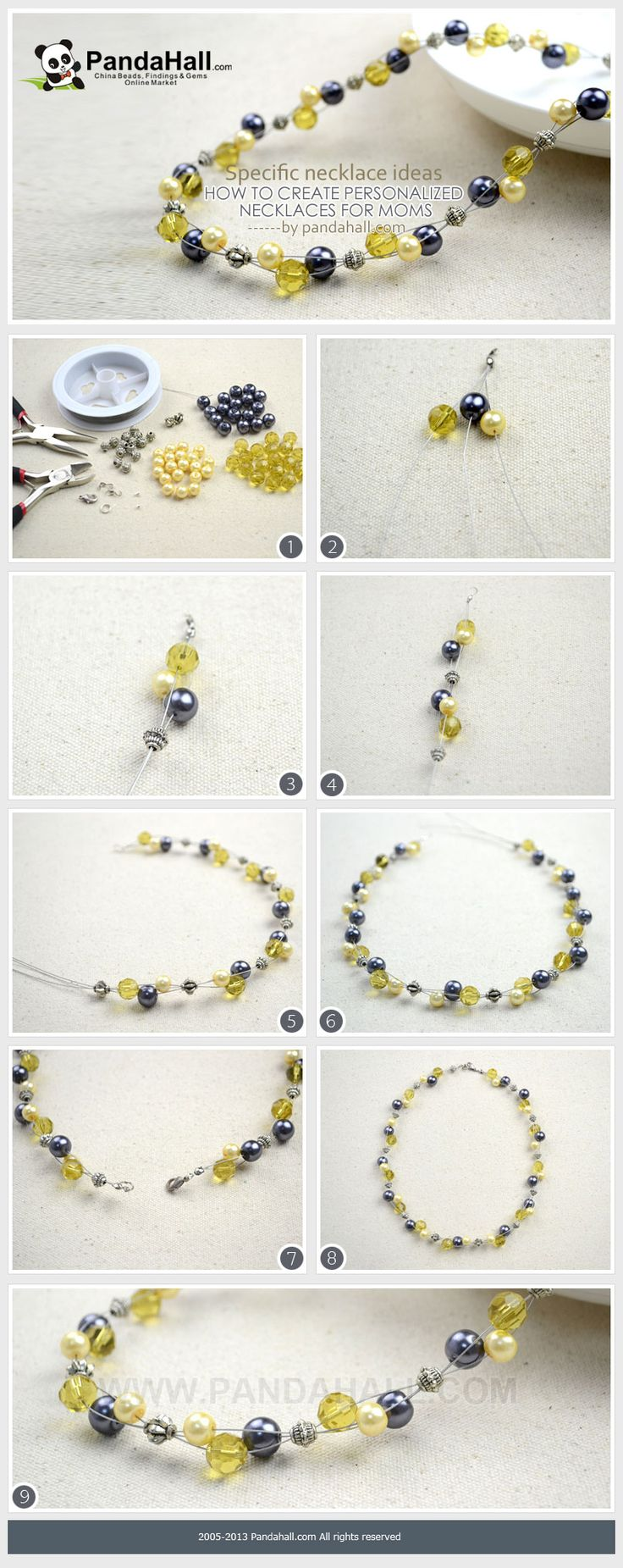 How to give personalized necklaces for moms on the Mother's Day? Beaded pearl necklace may be regarded as one stunning and simple choice among mass of necklace ideas.