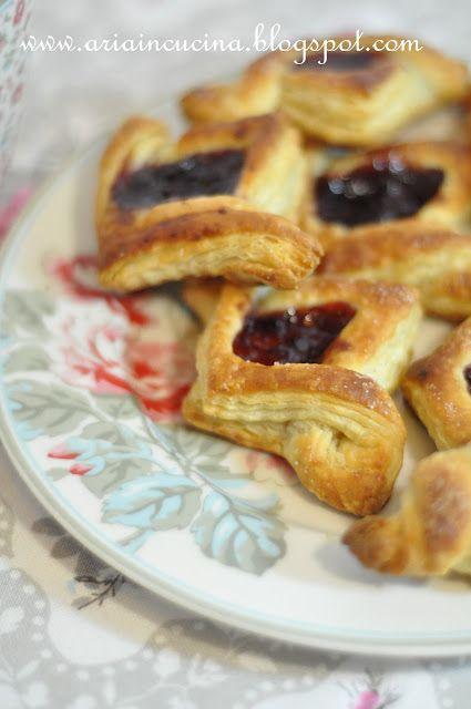 Blog di cucina di Aria: Finta sfoglia dolce: Danish pastries, cornetti e sfogliatine