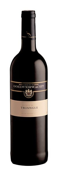 Goedverwacht Estate Triangle 2006 - Aged in a combination of new and 2nd fill French and American oak barrels, this elegant Bordeaux blend shows generous aromas of cassis and tobacco leaf, and a full-bodied, dusty palate of black olive and tomato leaf. Drink after decanting, with steaks, cutlets, strong cheeses and roast vegetables.  14% ABV