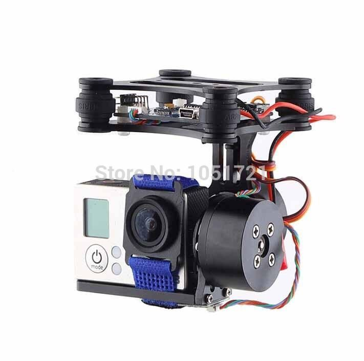 2-Axis Brushless Gimbal Frame + 2*Motors +Controller for Gopro 2 3 4 Xiaomi Xiaoyi SJ4000 Camera FPV RTF DIY Drone