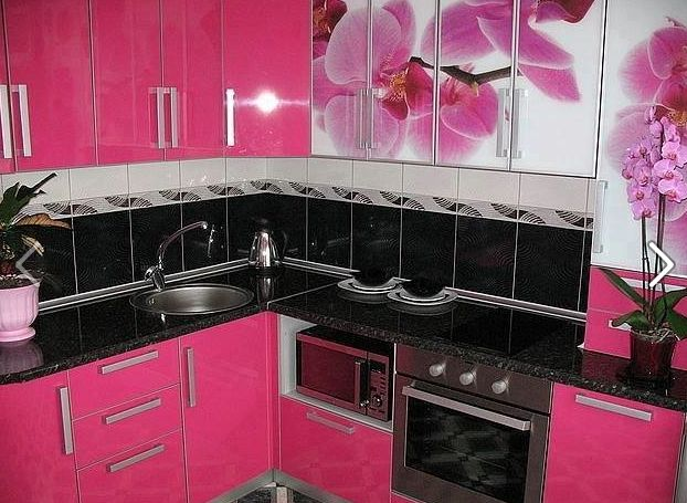 Pink cabinets
