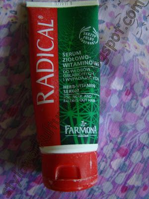 Serum ziołowo - witaminowe do włosów wypadających i zniszczonych Radical od Farmony