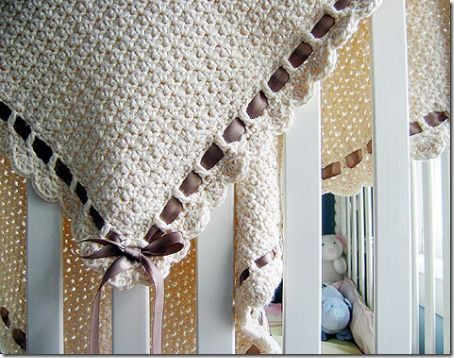 Baby Blanket = gorgeous Quilt Crochet Pattern :: chocolate and cream... what a rich combination. beautiful.