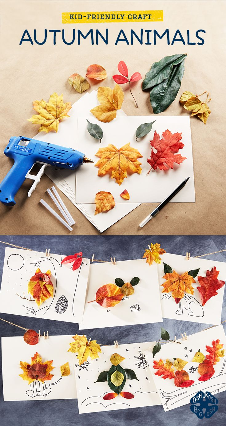 Get your OshKosh kid in the Fall spirit with this kid-friendly craft.