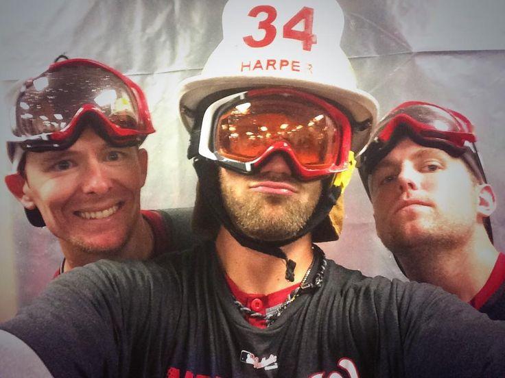 Bryce Harper Celebrates NL East Title In His D.C. Fireman Hat