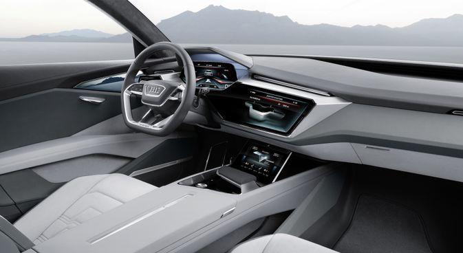 Porsche Und Audi Treten Gegen Tesla Mit Zwei Wunderschonen Visionen Fur Elektroautos An Elektrische Autos 2020 In 2020 Audi E Tron Audi Interior E Tron