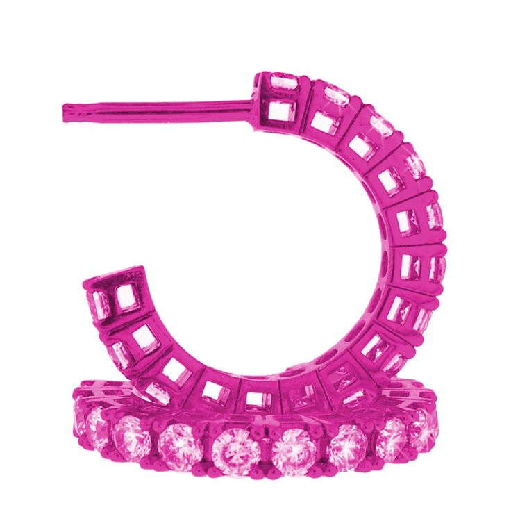 orecchini fucsia con zirconi rosa