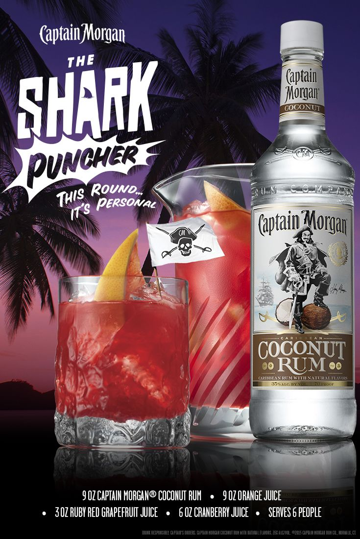 With the Shark Puncher, this round it's personal. Mix up a batch of this Captain Morgan Coconut Rum summer recipe for the whole crew to enjoy. #SunsOutRumsOut