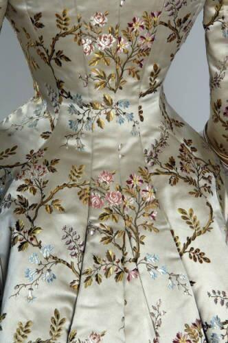 Victorian silk brocade and ...
