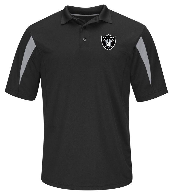 NFL Men's Polo Shirt - Oakland Raiders, Size: Medium, Black