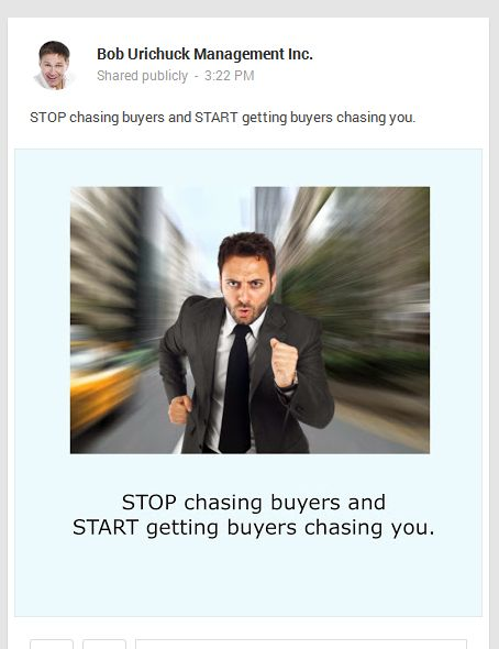 STOP chasing buyers and START getting buyers chasing you.