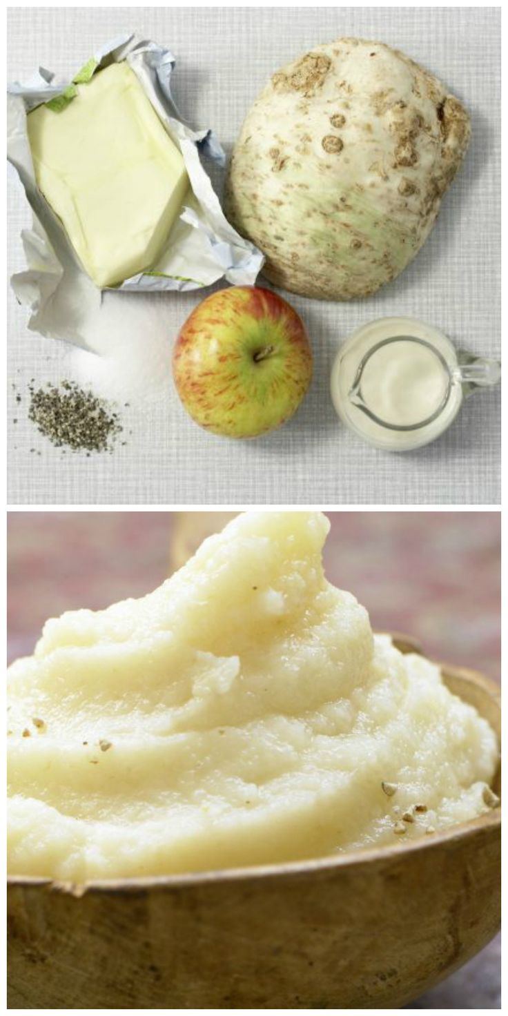 Mal was anderes: Pikantes Apfel-Sellerie-Püree Perfekt zu geschmortem Fleisch |  http://eatsmarter.de/rezepte/pikantes-apfel-sellerie-pueree