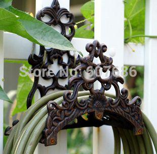 Vintage Wall Mounted Hose Holder Cast Iron Hose Hanger Hose reels Rustic Metal Garden Yard Decor Outdoor Supplies Free Shipping