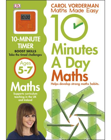 Set the clock and off you go! Young learners excel in short bursts, so 10 Minutes a Day First Maths Skills from Carol Vorderman is the perfect