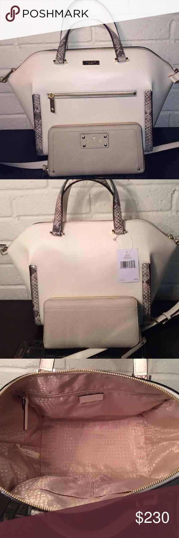 Kate spade Susannah satchel tote set PLEASE SHARE LISTINGS, I WILL RETURN FAVOR..BETTER PRICE on 🅿️🅿️or Ⓜercari!!!!️Bags are 100% authentic and brand new with tags guaranteed!! Kate spade Susannah leather set. Stored in pet free and smoke free home. Serious buyers only please and only comment if it's about purchasing. I will not respond to lowball offers.  customers know my background. Thank you   Measurements medium kate spade Bags