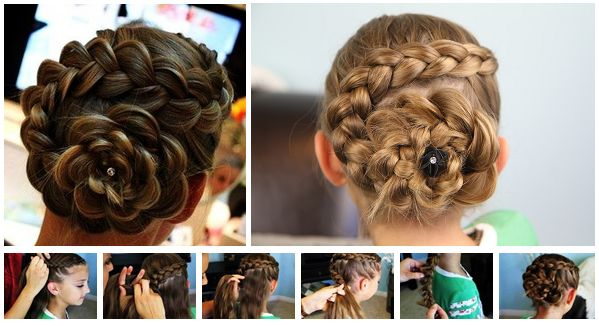 Dutch Flower Braid Hairstyle – DIY [video].  This is gorgeous.