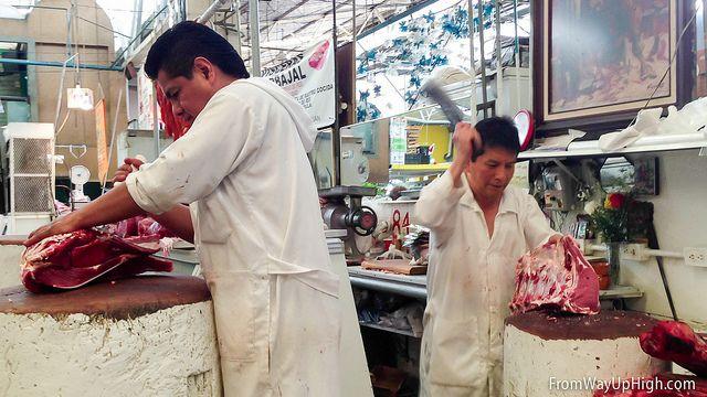 If you can stomach it, watch an unlucky cow or rabbit get butchered at Mercado San Juan. http://fromwayuphigh.com/mercado-san-juan/