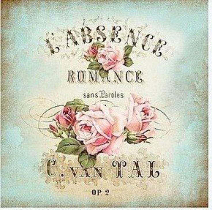 Postal etiqueta Rose Provence Absence.