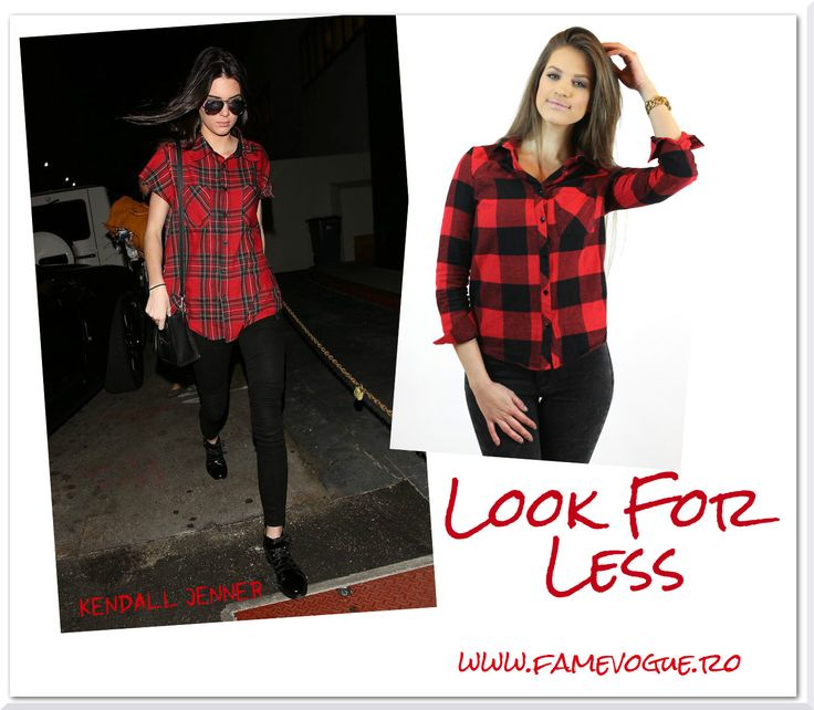 Get the coolest #plaid #shirt #outfit worn also by #kendalljenner from our store www.famevogue.ro.....<3  #trends #haine #moda #camasa #fashion #style