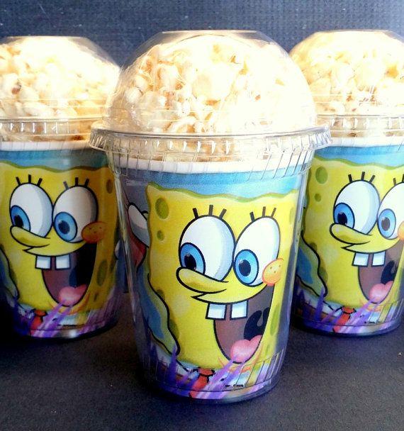 Popcorn Boxes Sponge Bob Square Pants