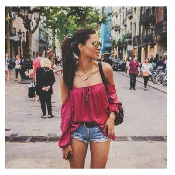 #strapless #shirt #summer #outfit