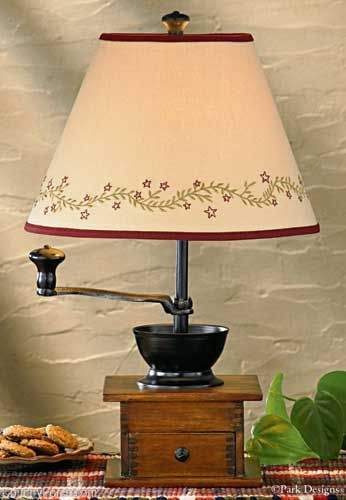 Home sweet home vine finial lampshade 12 primitive lampscountry