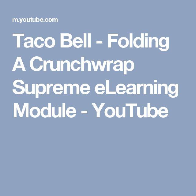 Taco Bell - Folding A Crunchwrap Supreme eLearning Module - YouTube