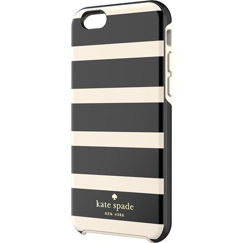 kate spade new york - Hybrid Hard Shell Case for Apple® iPhone® 6 - Black/Cream - Larger Front