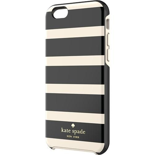 kate spade new york - Hybrid Hard Shell Case for Apple® iPhone® 6 - Black/Cream - Larger Front