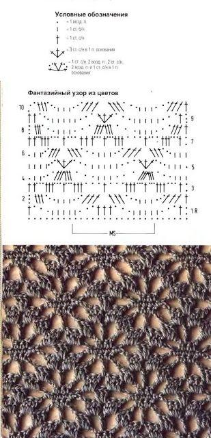 Crochet jabot | DODA CROCHET. Filet Crochet..looks like a flower. ✿⊱╮Teresa Restegui http://www.pinterest.com/teretegui/✿⊱╮