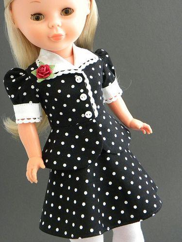 Polka dot skirt and blouse