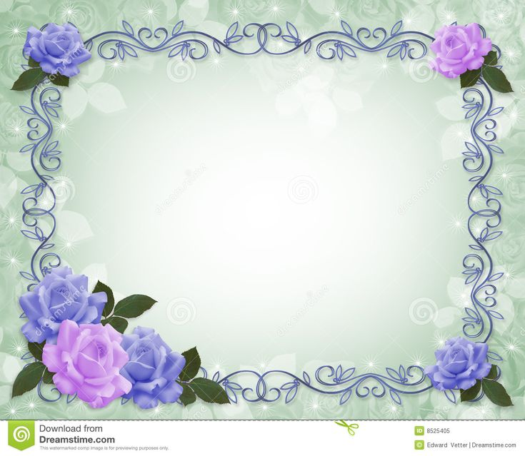 blue -roses-border frame | Beautiful Art Graphics ...