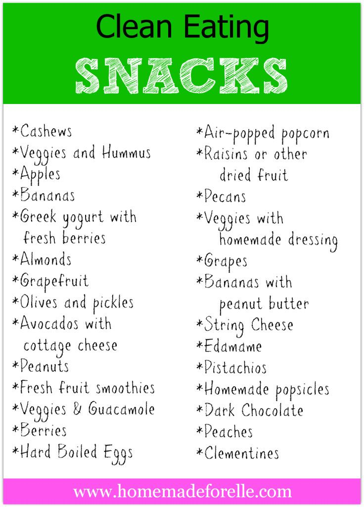 Clean Eating Snacks ~ keep this in mind!