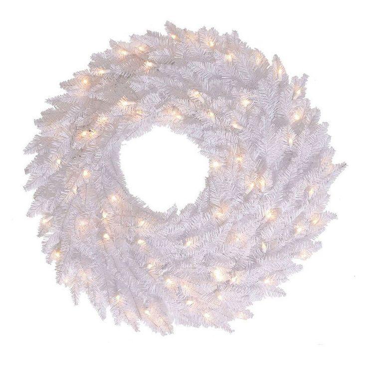 Vickerman White Fir Pre-lit Wreath - K120349