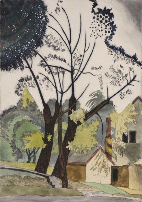 Charles Burchfield - Decorative Landscape, Shadow, 1916.