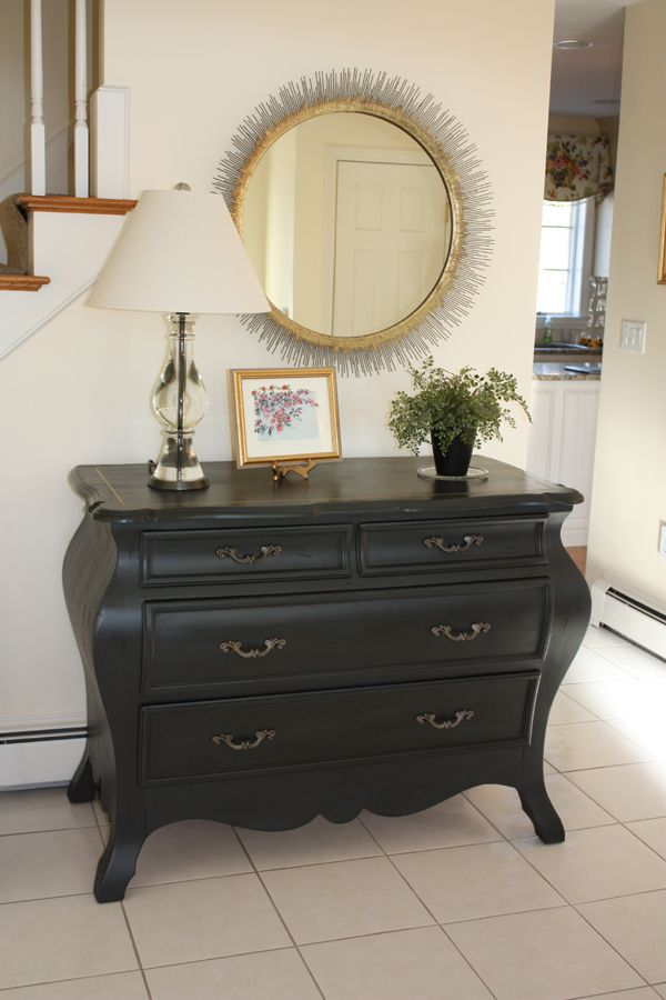 Graphite Chalk painted Bombay chest
