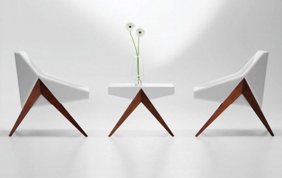 : Lounges Chairs, Michael Wolk, Modern Chairs, Interiors Design Tips, Clean Design, Tables Design, Folding Chairs, Michaelwolk, White Furniture