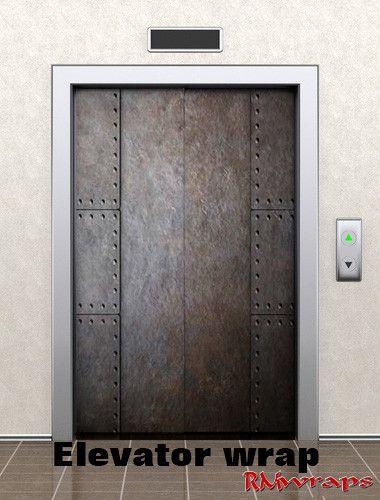 Elevator Metal Door wrap & 100+ best Door decal Wraps images by Rm wraps on Pinterest   Decal ...