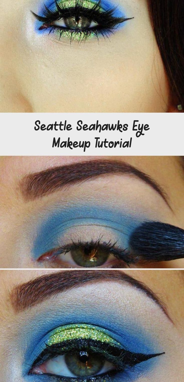 Seattle Seahawks Eye Makeup Tutorial MAKEUP Seattle